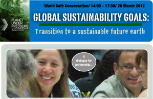 World Café Conversation / 14:00 - 17:30 / 28 March 2012